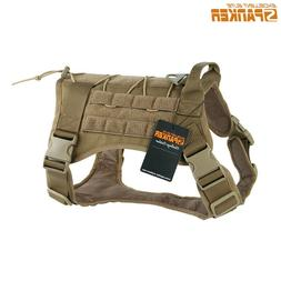 Service Dog Harness Molle Vest Military Police Dog Training