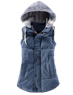 slim sleeveless quilted removable hooded