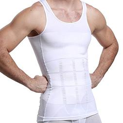 GKVK Mens Slimming Body Shaper Vest Shirt Abs Abdomen Slim,X