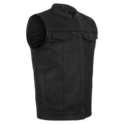 soa men s leather vest anarchy motorcycle