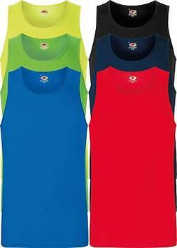 Fruit of the Loom Womens Lady-Fit Plain Vest T-Shirt Top5 COLOURSS 2XL