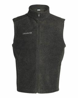 Columbia Steens Mountain Full Zip Fleece Vest Mens Grey Adul