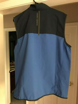 Under Armour Storm NWT Mens Blue Black Full Zip Golf Vest Ja