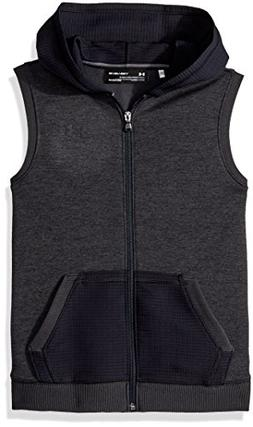 Under Armour Boys' Storm SF Hoodie Vest, Black /Black, Youth