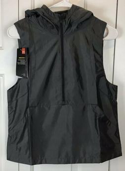 Under Armour Storm Womans Gray Sleeveless 1/2 Zip Water-Resi