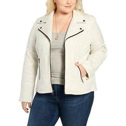 Style & Co. Women's Plus Size Contrast Trim French Terry Mot