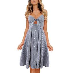 Tootu Summer Casual Boho Evening Party Mini Dress,Women Beac