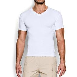 Under Armour Men's Tactical HeatGear Compression V-Neck, Whi