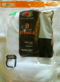 Fruit of the Loom Tag Free A-Shirts - Dual Defense - 6 Pack