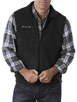 Columbia Men's Big & Tall Cathedral Peak II Fleece Vest, Bla