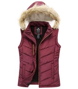 Wantdo Women's Thicken Vest Quilted Padding Puffer Vest with