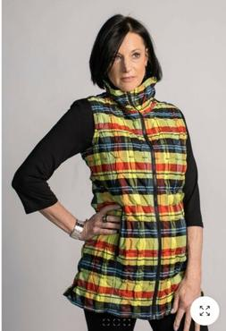 UBU Casual Jacket Women's Size XS Lightweight Quilted Plaid