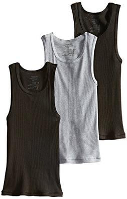Boys' Hanes Ultimate ComfortSoft Dyed Tank Undershirt 3-Pack