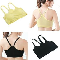 US Woman Soft Cotton Modal Strap Crop Top Vest Sports Bra Bu