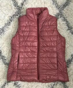 Active Usa Puffer Vest Women's Size L Rose Pink Casual Act