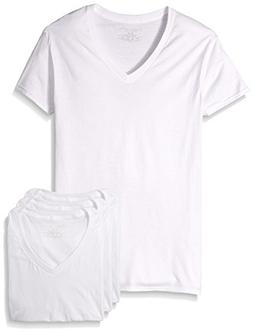 Fruit of the Loom Men's Premium V-Neck Tee (Pack of 4 White