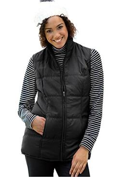 Women's Plus Size Vest With Quilted Texture Black,L