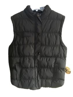 Wando Men's Hooded Black Puffer Vest In Black Size Small N