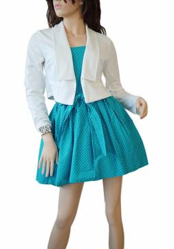 White Ladies CROPPED MINI JACKET - Perfect for Summer Dresse