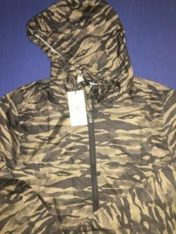 SUNRISE KINGDOM WINDBREAKER JACKET HOODIE CAMO GREEN MENS NE