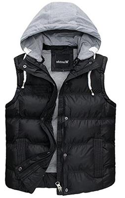 Wantdo Men's Winter Removable Hooded Puffer Gilet Outwear Sm