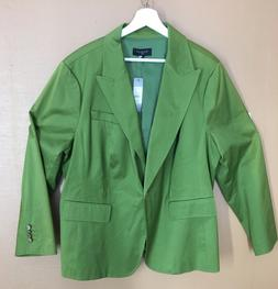 Talbots Woman 22W Green One-button Lined Blazer for St. Patr