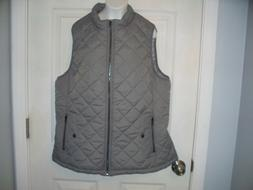 Allegra K Woman Zip Quilted Padded Vest SIZE XL New!!!