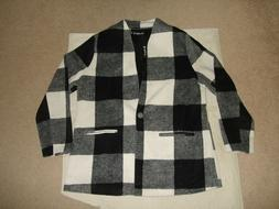 Allegra K Women Plaid One Button Coat Size XL Multi