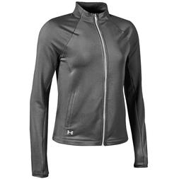 Under Armour Women's Carbon Heather Gray UA Complete Full Zi