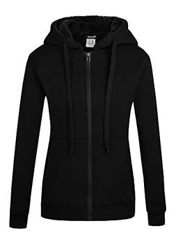 Wantdo Women's Fleece Hoodie Warm Sweatshirt Slim Fit Sherpa