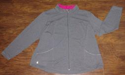 women's heather gray and pink plus size 4X yoga lightweight
