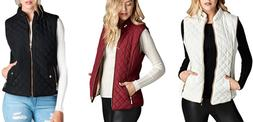 Women's Lightweight Quilted Padding Vest Top Jacket Outwear