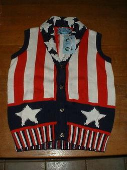 Women's Lisa Coufal Just Better Sweaters Stars and Stripes S