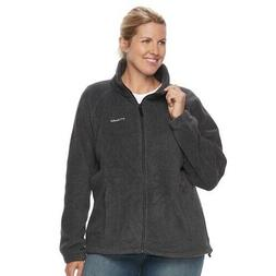 Columbia Women's PLUS SIZE Three Lakes Fleece Jacket GRAY  N