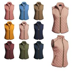 FashionOutfit Women's Quilted Suede Pipe Details Gold Zipper