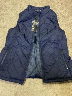 Argstar Women's Stand Collar Gilet Quilted Padding Vest Blue