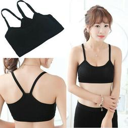 Women Strap Vests Sports Bra Cami Wrap Chest Soft Crop Top C