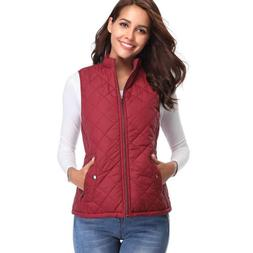 Womens Autumn Winter warm no sleeves Coat Solid Color Stand
