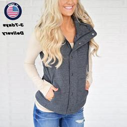 Womens Casual Quilted Puffer Vest Lightweight Zip Up Jacket