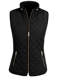 NE PEOPLE Womens Lightweight Quilted Zip Vest, Medium, NEWV4