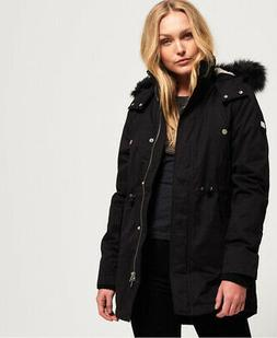 Womens Superdry Model Microfibre Jacket Black