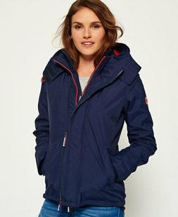 Womens Superdry Pop Zip Hooded Arctic SD-Windcheater Jacket