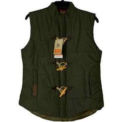 Legendary Whitetails Womens Quilted Vest Size Small Army Gre