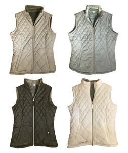 Womens Free Country Reversible Diamond Quilted Lightweight V