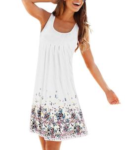 AELSON Womens Summer Casual Sleeveless Mini Printed Vest Dre