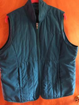 Hanes Active Style Women's Turquoise blue Large Quilted Ve