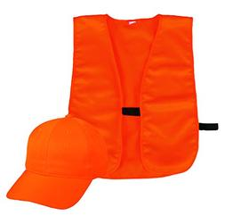 Outdoor Cap Company Youth Cap And Vest Combo Blaze Orange