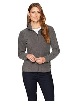 Amazon Essentials Womens Full-Zip Polar Fleece Jacket, Grey