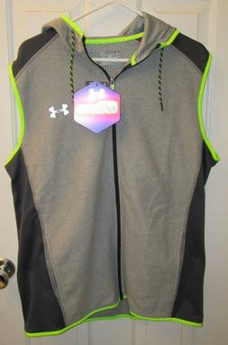 Under Armour Zipped Hooded Vest - Size L - NWT