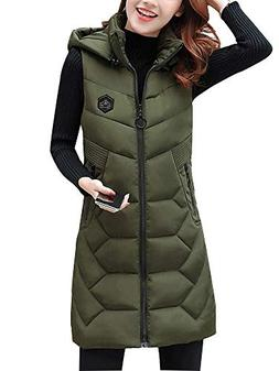 Women's Zipper Quilted Cotton Padded Stand Collar Thickened